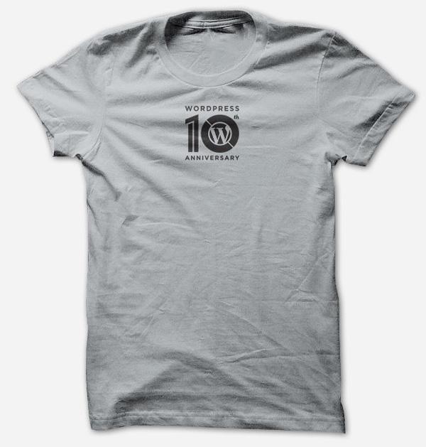 wordpress10周年纪念Logo和T恤